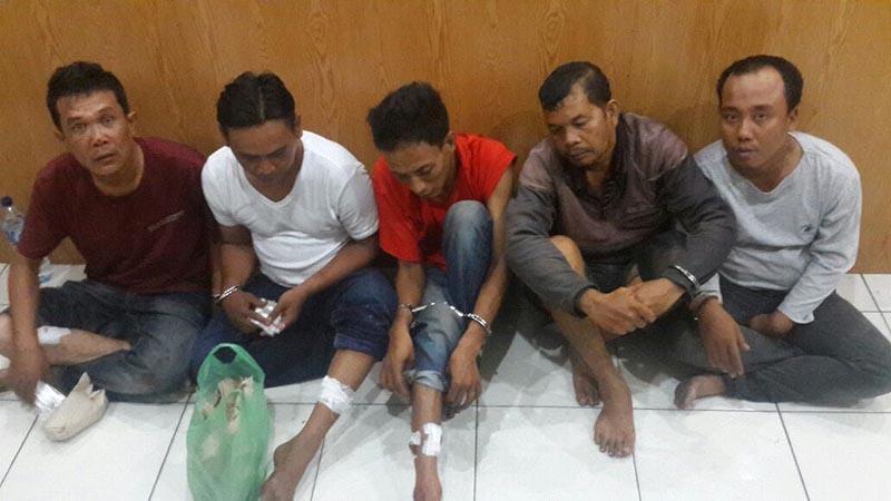 Delapan Spesialis Pembobol Rumah Ditangkap, Tiga Diantaranya Dibedil Polisi