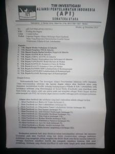Dalam laporannya, ada sekitar 11 akun yang diduga palsu yang diadukan API. (tobasatu.com/habibi)