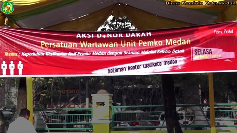 Aksi Donor Darah Persatuan Wartawan Unit Pemko Medan - Berita Medan Tobasatu