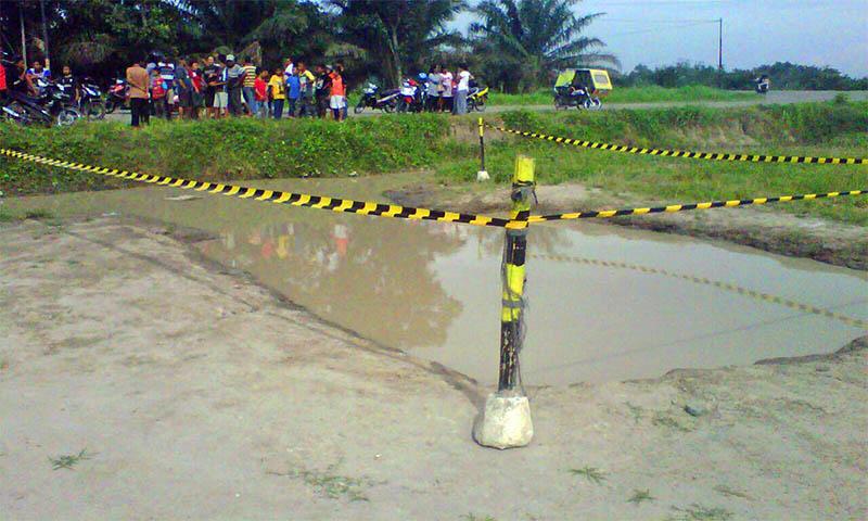 Tiga Bocah Tewas Tenggelam di Lokasi Galian Proyek Jalan Tol Desa Mulyo Rejo(2)
