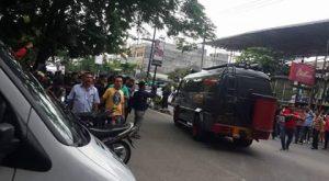 Polisi saat ini masih melakukan pengamanan di Tempat Kejadian Perkara (TKP). (tobasatu.com/Chandra Sembiring).