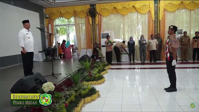 Walikota Medan Lepas 100 Pramuka Ikuti Malaysia Scouts Jambore