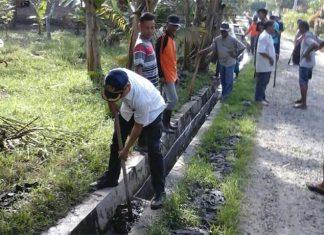 Pasca Banjir, Camat Kisbar Kerahkan 7 Kelurahan Bergotong Royong