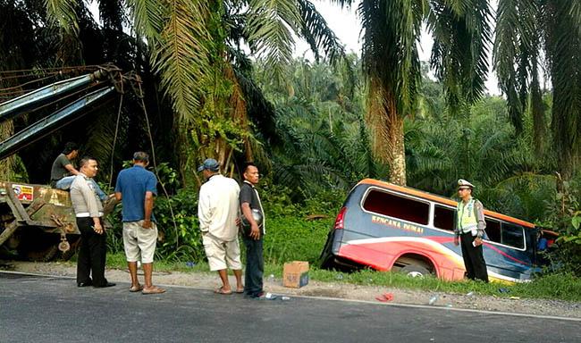 Akibat Sopir Ngantuk, 16 Penumpang Bus Luka Luka (2)