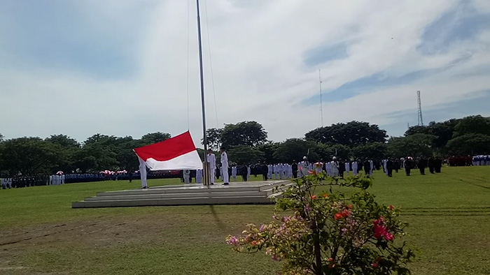 Sukses Kibarkan Bendera Merah Putih, Anggota Paskibra Asahan Dapat Aplaus Meriah 2