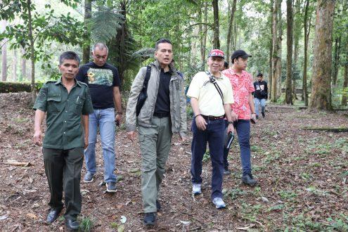 Wakil Gubernur (Wagub) Sumatera Utara (Sumut) Musa Rajekshah melakukan kunjungan ke Tahura, Sabtu (10/8).