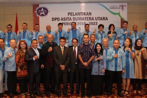 Wakil Gubernur (Wagub) Sumut Musa Rajekshah pada acara pelatikan pengurus DPD Asosiasi Perusahaan Perjalanan Wisata Indonesia (Asita) Sumut periode 2018-2023, di JW Marriot Hotel, Jalan Putri Hijau Medan, Kamis (31/10).